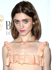 Natalia Dyer kept it casual with this center-parted bob at the BAFTA Los Angeles TV tea party.