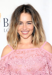 Emilia Clarke rocked a just-got-out-of-bed hairstyle at the BAFTA Los Angeles TV Tea Party.
