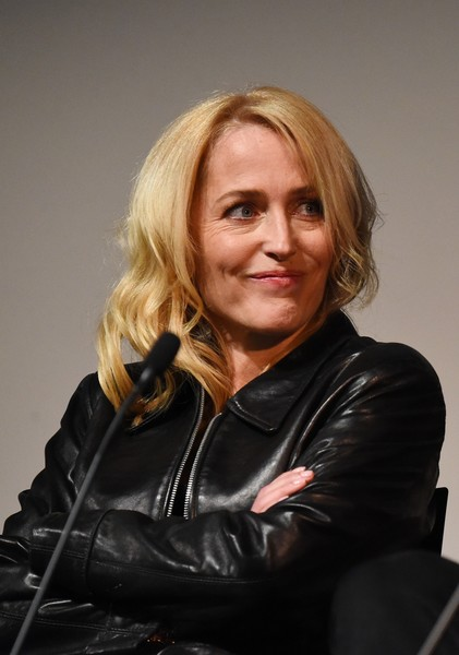 More Pics of Gillian Anderson Platform Sandals (1 of 13) - Heels Lookbook - StyleBistro [bbc two drama,the fall - launch of series three,the fall,series,hair,lady,blond,chin,leather,jacket,sitting,photography,portrait,leather jacket,gillian anderson,part,q a,bfi southbank,bbc two,screening]