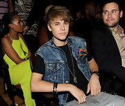 The Biebs kicked back in his seat at the BET Awards sporting his double-strand black onyx Spiritual bead bracelet.