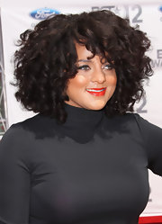 Marsha Ambrosius sported a full head of corkscrew curls at the 2012 BET Awards.