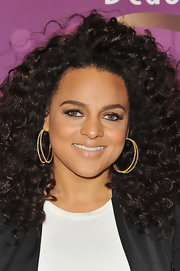 Marsha Ambrosius' diamond hoops were a chic finish to her look during the 2012 Black Girls Rock event.