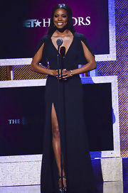 Gabrielle Union looked divine on stage at the BET Honors in a navy gown.