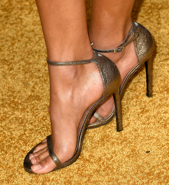 More Pics of Kylie Bunbury Cocktail Dress (3 of 10) - Dresses & Skirts Lookbook - StyleBistro [bet presents the american black film festival honors - arrivals,footwear,high heels,leg,foot,toe,sandal,human leg,ankle,shoe,sole,kylie bunbury,shoe detail,beverly hills,california]