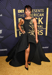 Anika Noni Rose looked quite the diva in a flowing high-low gown by Azzi & Osta at the American Black Film Festival Honors.