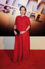 Kristin Scott Thomas opted for a loose red gown when she attended the BFI London Film Festival Awards.