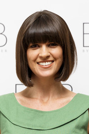 Dawn O'Porter attended the BOB pop-up boutique launch wearing her hair in a bob with full bangs.