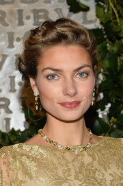 Jessica Hart looked oh-so-lovely wearing her hair in pinned-up curls at the Bvlgari & Rome: Eternal Inspiration opening.