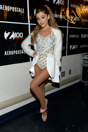 Ariana Grande dazzled in a fully beaded bodysuit during Jingle Ball.