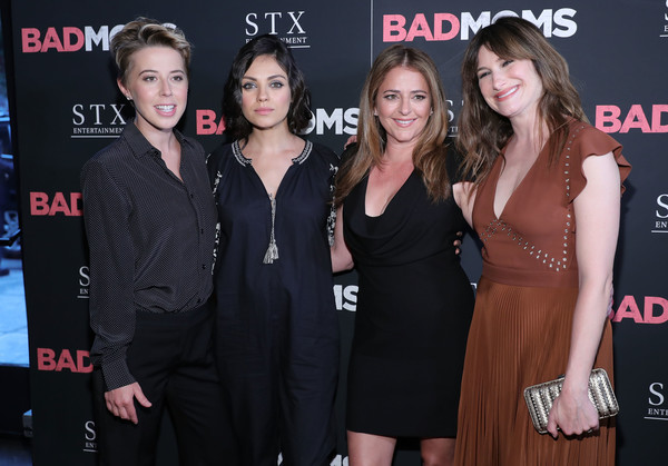 More Pics of Mila Kunis Short Wavy Cut (2 of 19) - Mila Kunis Lookbook - StyleBistro [little black dress,premiere,event,dress,carpet,flooring,style,arrivals,bad moms,president,annie mumolo,kathryn hahn,sophie watts,l-r,new york,stx entertainmen,premiere]