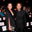 Chrissy Teigen and John Legend at Badgley Mischka