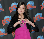 Bailee Madison looked great wearing a sequined cropped jacket at a visit to Planet Hollywood.