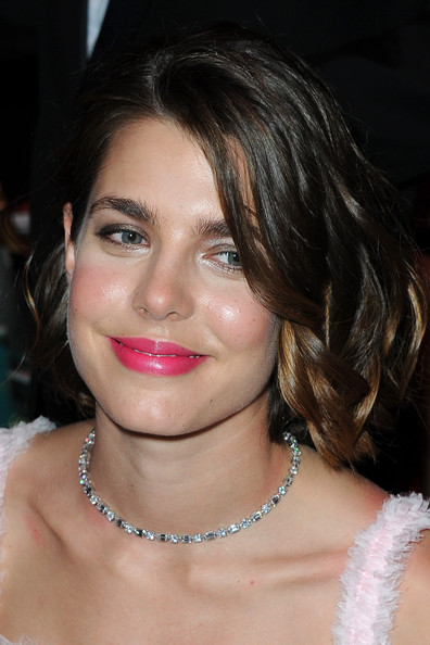 Charlotte Casiraghi polished off her look with an elegant diamond necklace.
