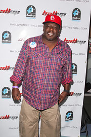 Cedric the Entertainer looked so vibrant in his colorful checkered button-down.