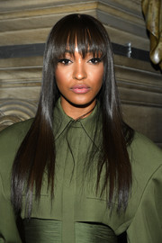 Jourdan Dunn showed off a super-sleek hairstyle at the Balmain Spring 2020 show.