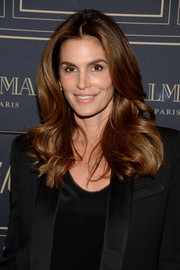 Cindy Crawford made an appearance at the Balmain x H&M Los Angeles pre-launch wearing her signature big, bouncy waves.