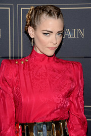 Jaime King attended the Balmain x H&M Los Angeles pre-launch rocking a tightly braided updo.
