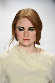 Barbara Meier's stage makeup for the Baltic Fashion Catwalk Show was both dramatic and beautiful.