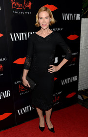 Kelly Lynch went the classic route in an embellished little black dress during the Banana Republic L'Wren Scott collection launch.