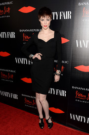 Coco Rocha went for simple sophistication in a long-sleeve LBD with a sweetheart neckline at the Banana Republic L'Wren Scott collection launch.