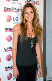 Amaia Salamanca managed to look good in a simple tank and pants at the presentation in Barcelona.