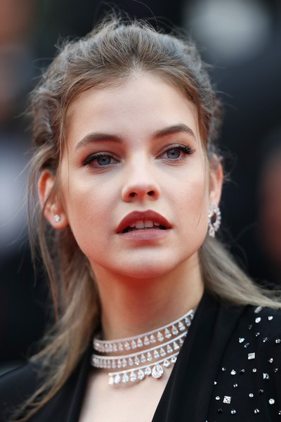Barbara Palvin Half Up Half Down [hair,face,lip,eyebrow,hairstyle,beauty,fashion,skin,head,blond,red carpet arrivals,barbara palvin,burning beoning,screening,cannes,france,cannes film festival,palais des festivals]