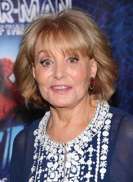 Barbara Walters Bob [spider-man,turn off the dark,hair,face,hairstyle,blond,chin,premiere,feathered hair,layered hair,bangs,barbara walters,broadway,new york city,foxwoods theatre,broadway opening night]