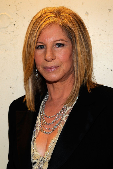 Barbra Streisand Layered Diamond Necklace