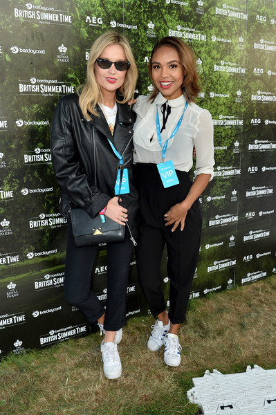 More Pics of Laura Whitmore Leather Sneakers (1 of 8) - Athletic Shoes Lookbook - StyleBistro [uniform,footwear,school uniform,outerwear,photography,eyewear,jacket,formal wear,recreation,plant,guest,laura whitmore,hyde park,barclaycard exclusive area,england,london,barclaycard presents british summer time hyde park,barclaycard presents british summer time,l]