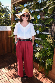 Daisy Ridley kept it relaxed in a loose white blouse at the British Summer Time Hyde Park event.