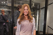 Kelly Bensimon is Ready for Halloween in Orange Peep-Toe Pumps