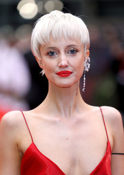 Andrea Riseborough rocked an ice-blonde pixie at the European premiere of 'Battle of the Sexes.'