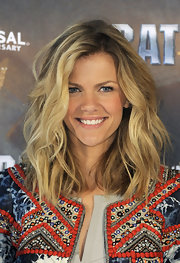 Brooklyn Decker attended a photocall for 'Battleship' wearing her hair in prettily mussed waves.