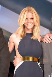 Brooklyn Decker hit the Japanese premiere of 'Battleship' looking radiant and wearing her hair in long subtly waved layers.