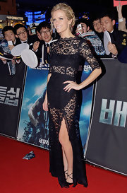 Brooklyn Decker left little to the imagination in this sexy sheer lace number at the South Korea premiere of 'Battleship.'