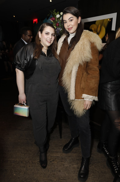 Beanie Feldstein Overalls [aerie celebrates an evening of change with the aeriereal role models,fur,fur clothing,fashion,event,textile,outerwear,fun,tights,fashion design,dress,aeriereal role models,aerie,lauren chan,beanie feldstein,l-r,nyc,the blond,evening of change,iskra lawrence,beanie feldstein,livingly media,new york,model,photograph,fashion,image]