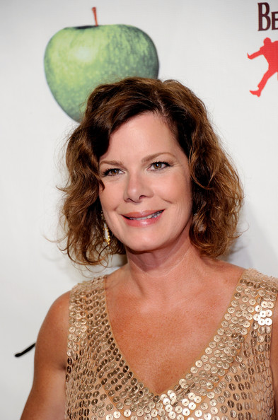 Marcia Gay Harden wore her hair in a short curly 'do at the 'Beatles LOVE by Cirque du Soleil' 5th anniversary event.