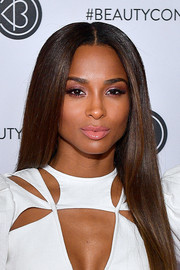 Ciara sported sleek straight tresses at Beautycon Los Angeles 2019.