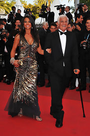 Barbara Gandolfi sparkled at the Cannes Film Festival in a sequined cutout gown.