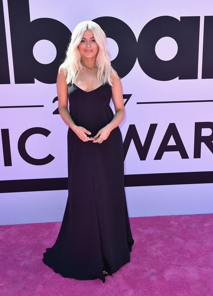 Bebe Rexha Evening Dress [red carpet,carpet,clothing,dress,shoulder,flooring,premiere,gown,fashion,event,arrivals,bebe rexha,billboard music awards,t-mobile arena,las vegas,nevada]