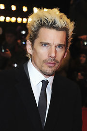 Ethan Hawke channeled Billy Idol with this highlighted blond spikey 'do at the Berlin Film Festival.