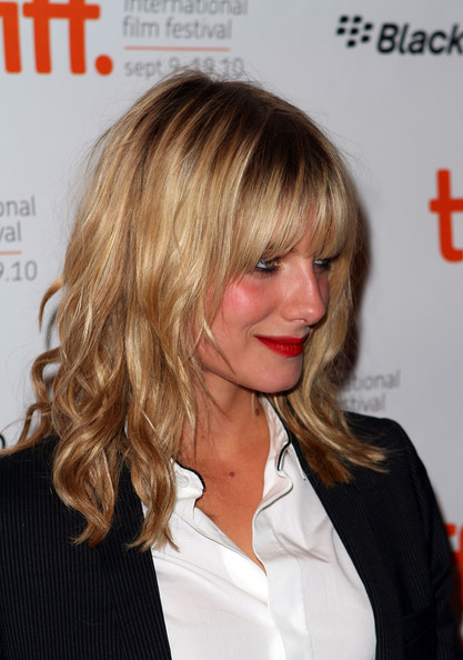 More Pics of Melanie Laurent Medium Wavy Cut with Bangs (1 of 4) - Melanie Laurent Lookbook - StyleBistro