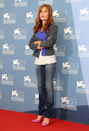Isabelle Huppert was ageless in her classic blue jeans.