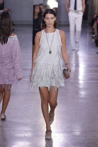 Bella Hadid Fringed Dress