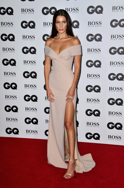 Bella Hadid Off-the-Shoulder Dress