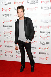 Jared Followill was in his usual skinnies and a black hoodie over a gray sweater during the Belvedere Vodka launch party.