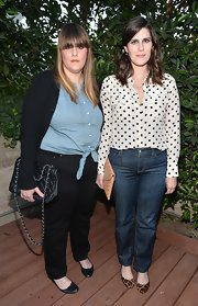 Laura Mulleavy mixed leopard-print ballet flats with a polka-dot blouse when she attended Benjamin Millepied's Dance Project benefit gala.