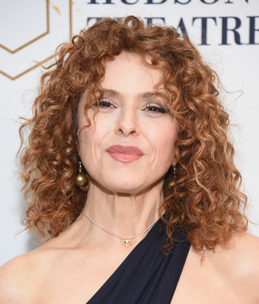 Bernadette Peters Medium Curls [sunday in the park with george,hair,face,hairstyle,ringlet,eyebrow,chin,blond,lip,long hair,brown hair,bernadette peters,curtain call,the hudson theatre,new york city,broadway,broad way opening night - arrivals]