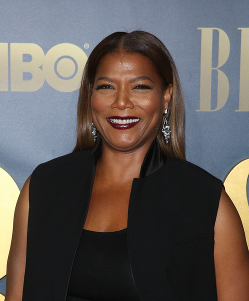 Queen Latifah opted for a sleek center-parted hairstyle when she attended the New York screening of 'Bessie.'
