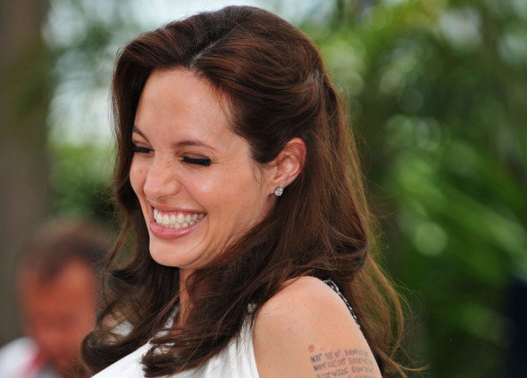 pinned back angelina jolie prom hairstyles 2010